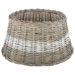 Riet / rattan hanglamp lampenkappen 45 cm. + witte band