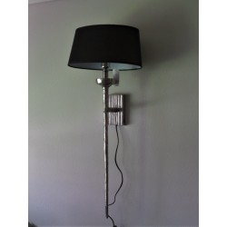 Wandlamp raw nickel